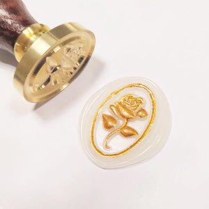 3D Relief Rose Wax Seal Stamp