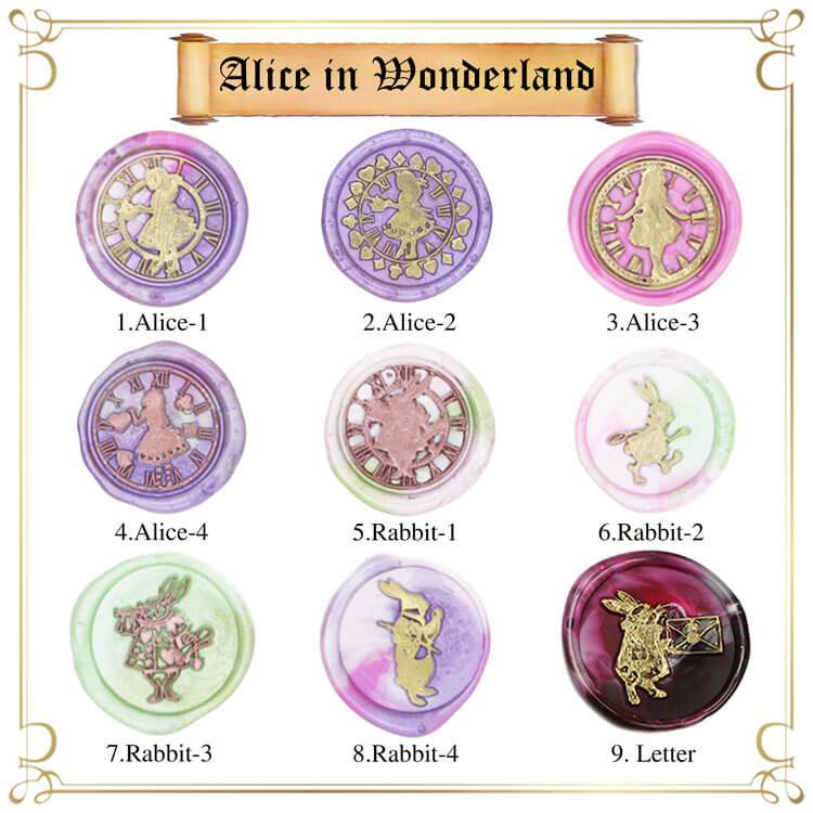 Alice's Adventures in Wonderland Wax Seal Stamp