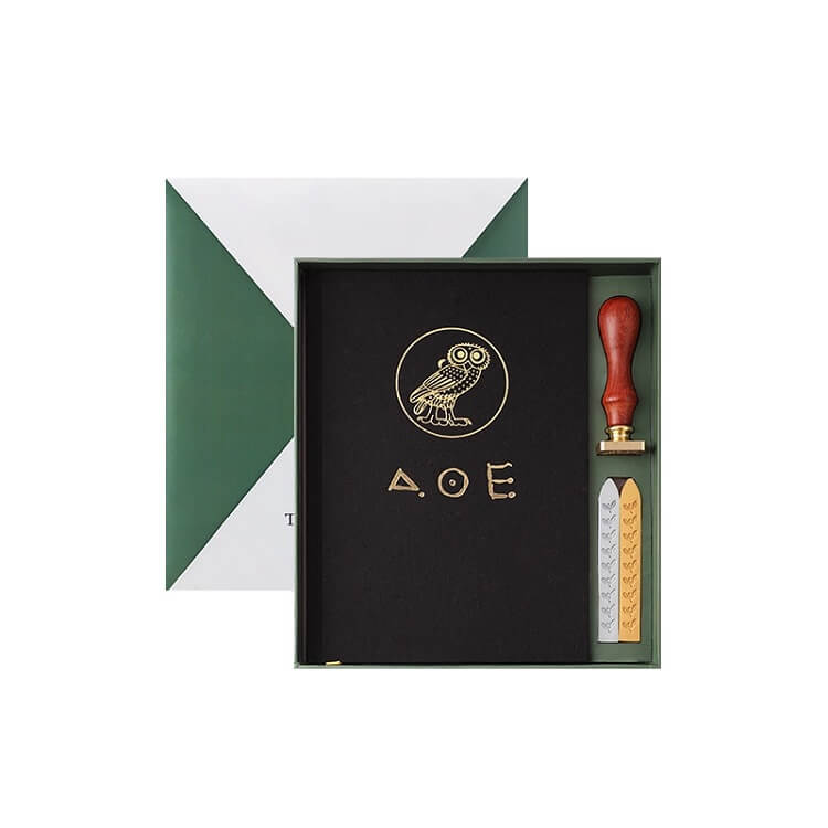 British Museum Athens Owl Notebook + Wax Seal Gift Set