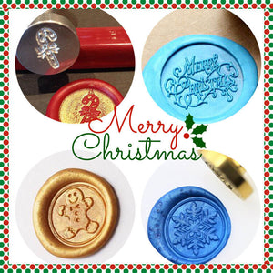 Christmas & New Year Wax Seal Stamp