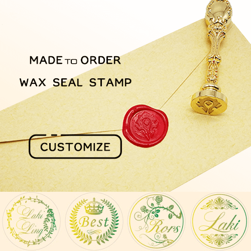 Custom Initials, Monograms & Text Wax Seal Stamp for Wedding / Personal Use