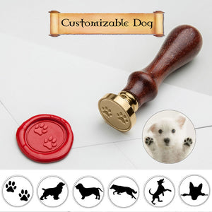 Dog Wax Seal Stamp with Custom Name