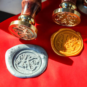 Floral Single Initial Wax Seal Stamp