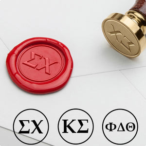 Greek Letters Wax Seal Stamp for Fraternities & Sororities