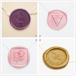 LGBT Wedding Invitation Wax Seal Stamp