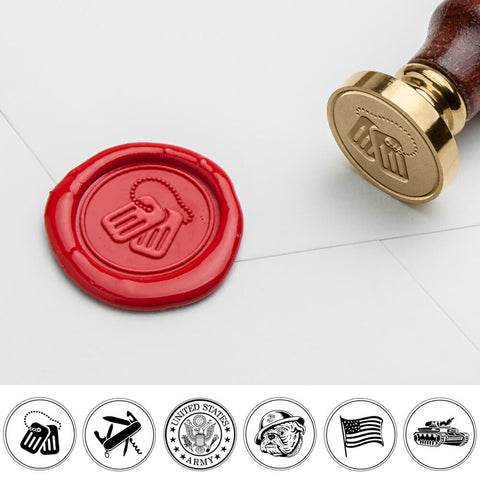 Military Art Wax Seal Stamp - Dog Tag