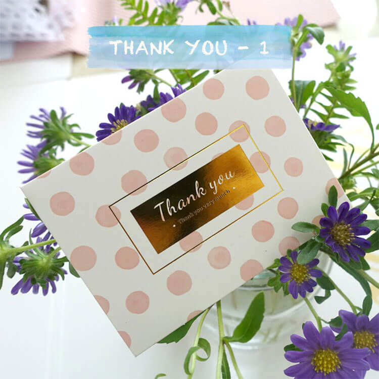 Mini Gold Foil Assorted Greeting Cards With Envelopes