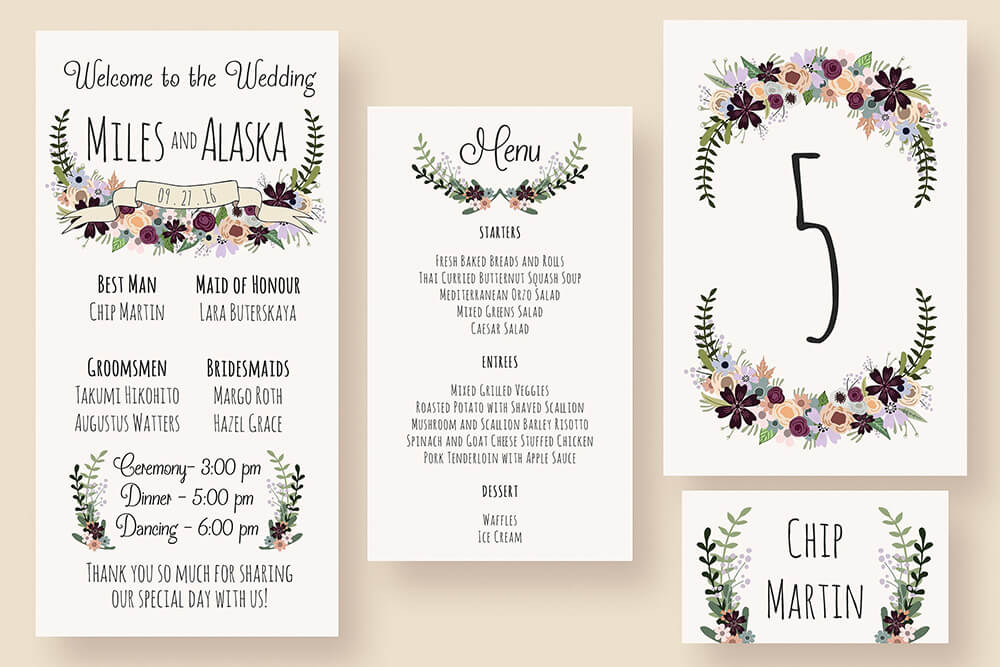 picture regarding Printable Design called Printable Lovable Invitation Design and style Suite Providing Bride Groom Cartoon Pictures