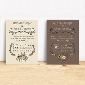 Printable Wildflower Invitation Design Suite