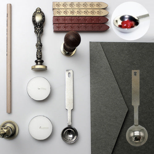 Metallic Sealing Wax Melting Spoon