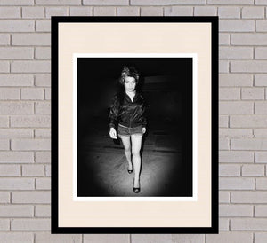 Amy Winehouse Black & White Framed Portrait