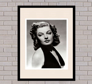 Ann Sheridan Black & White Framed Portrait