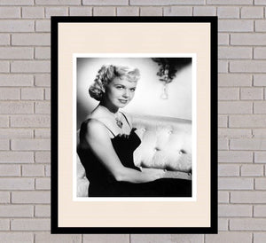 Doris Day Black & White Framed Portrait