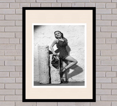 Dorothy Arnold Black & White Framed Portrait