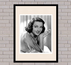 Ethel Merman Black & White Framed Portrait