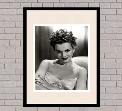 Eva Gabor Black & White Framed Portrait
