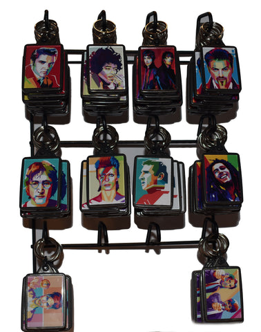 Pop Art Key Rings