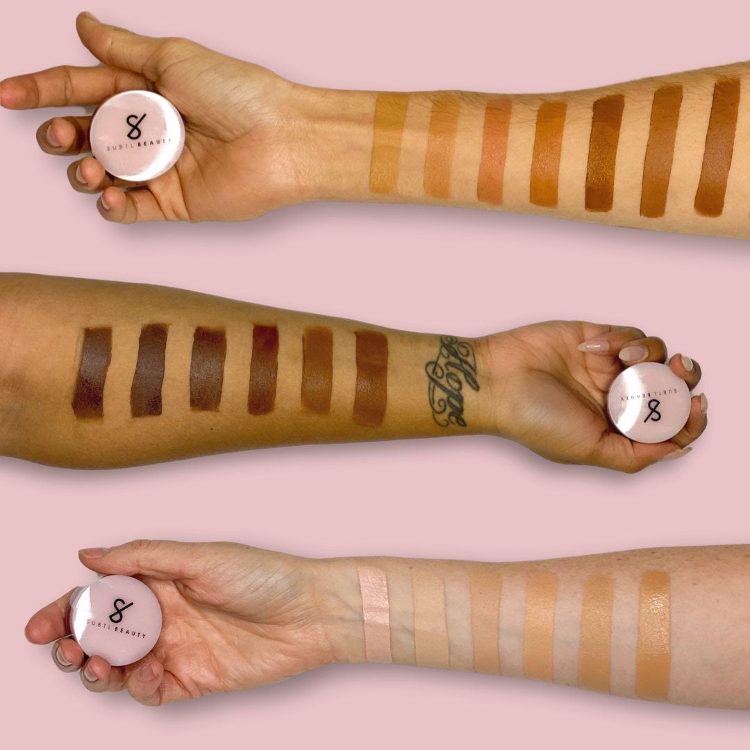 subtl beauty concealer expansion launch concealer arm swatches