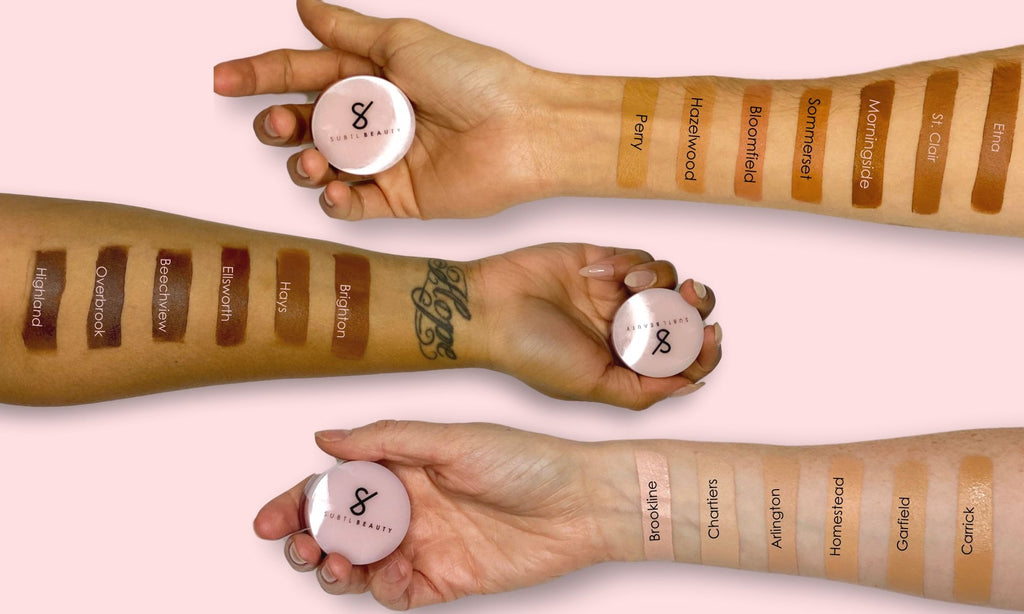subtl beauty concealer arm swatches