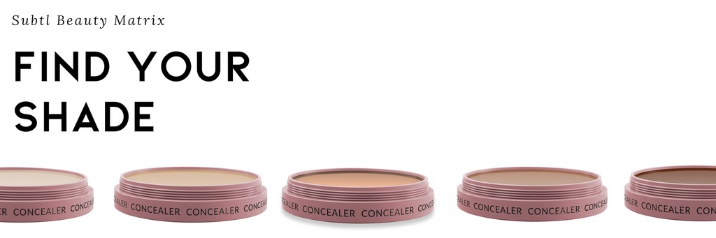 find your concealer shade by comparing your shade against other popular makeup brands