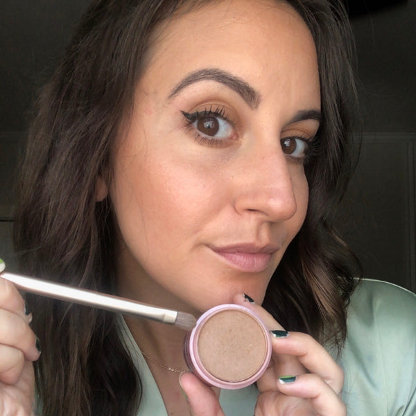 Use bronzer for a metallic eye look.