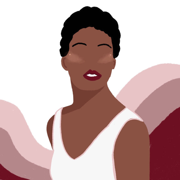 An illustration of what Maya Angelou would look like today.