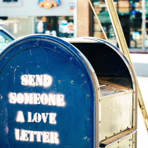 "A mail box that says ""send someone a love letter."""