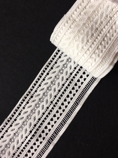 Lace Trim 30 - Herringbone Pattern with additional Trim - AU