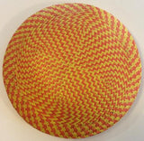Round Multi-Colour Checked Buntal [16cm] Bases - AU