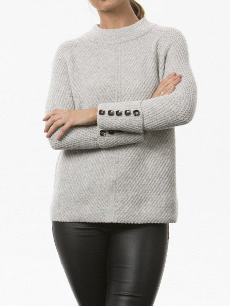 BRIDGE & LORD HIGH NECK RIB SWEATER