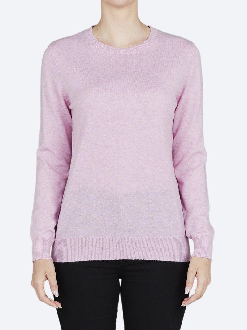 Yeltuor - BRIDGE AND LORD - Knitwear - BRIDGE AND LORD CREW NECK PULLOVER - PINK -  S