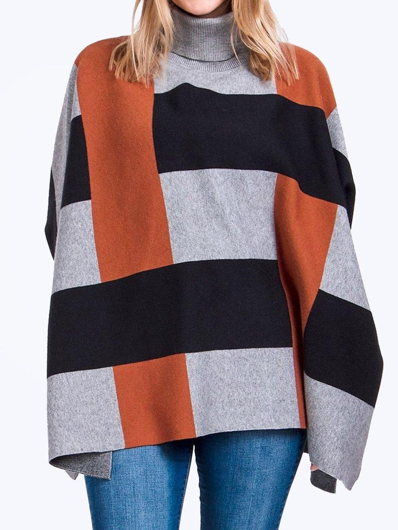 CAROLINE MORGAN OVERSIZED PONCHO JUMPER