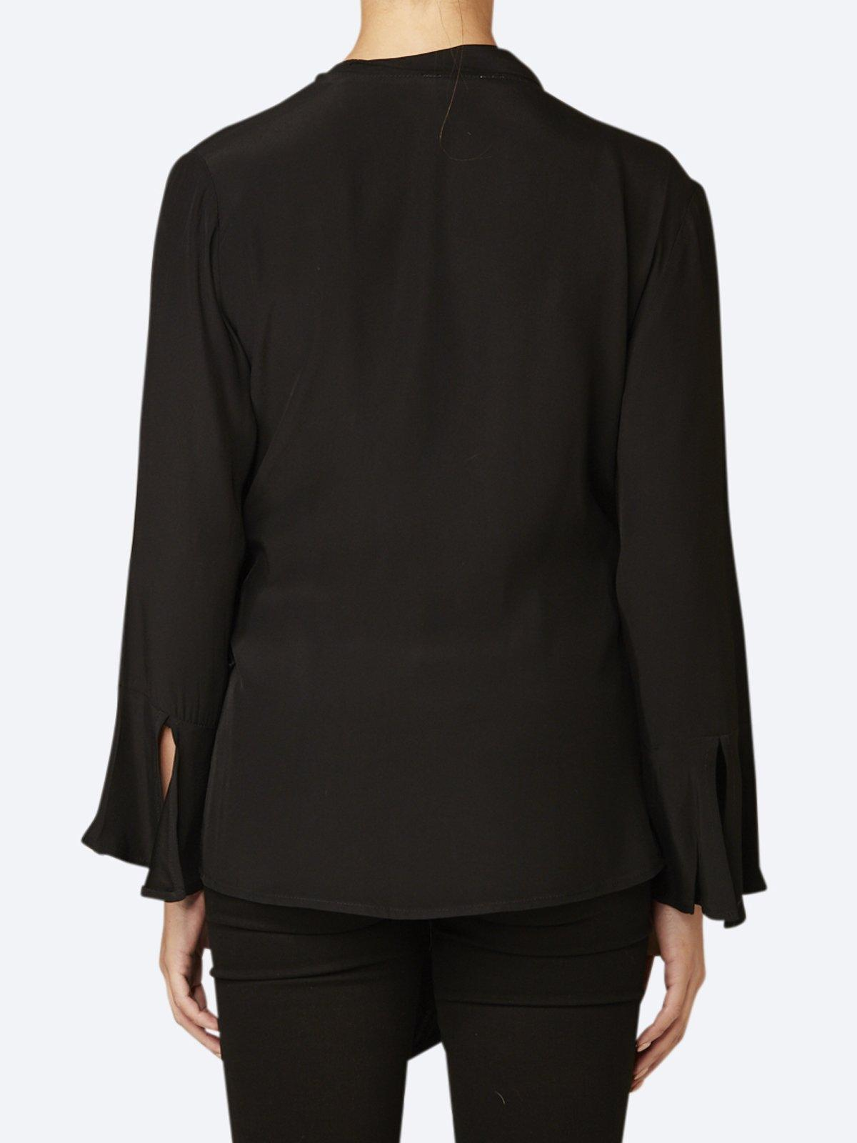 CHALICE FEATURE LAPEL WRAP TOP