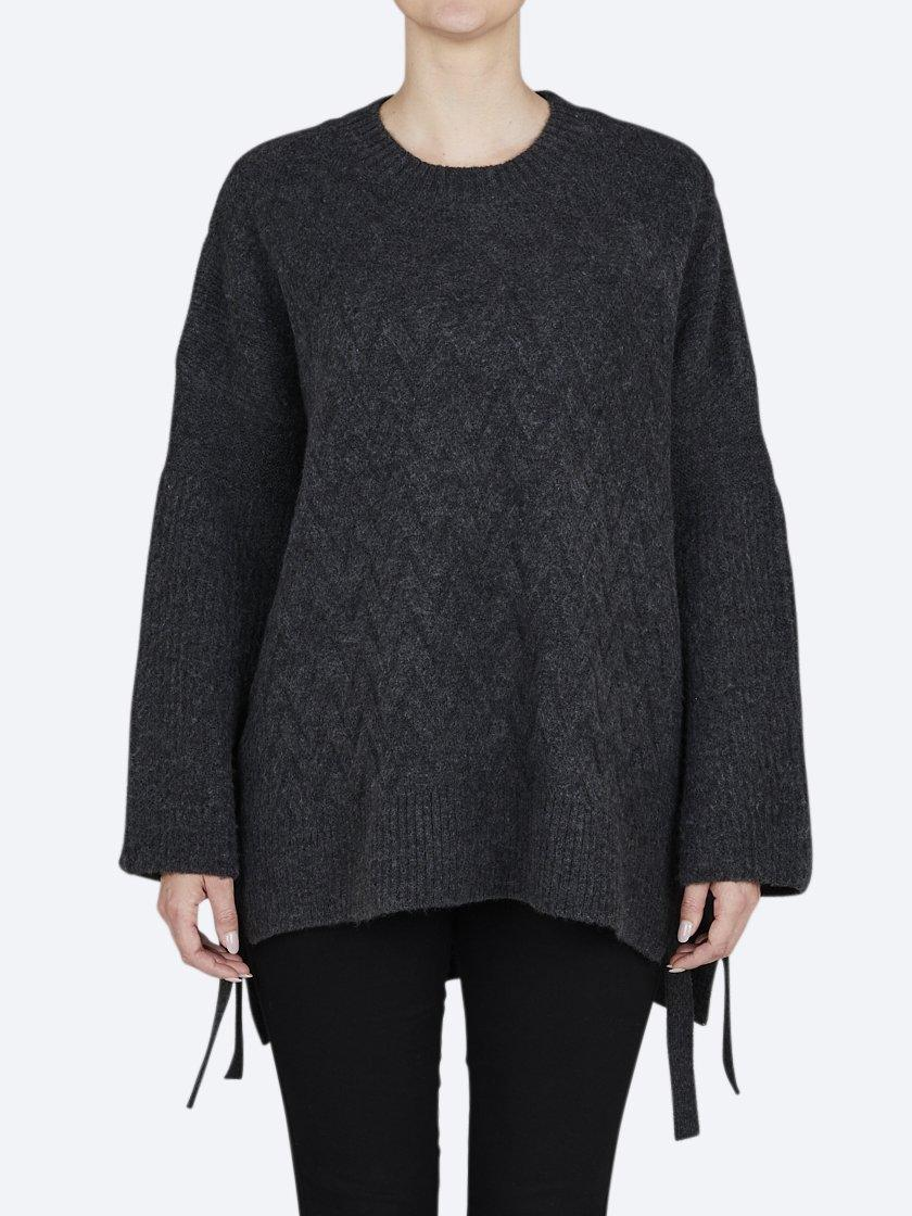 CONCHITA TIE SIDE CABLE KNIT