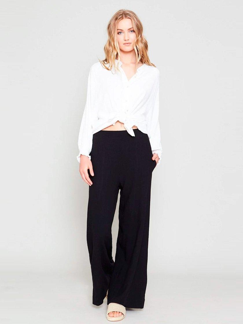 CONCHITA WIDE LEG LINEN PANT