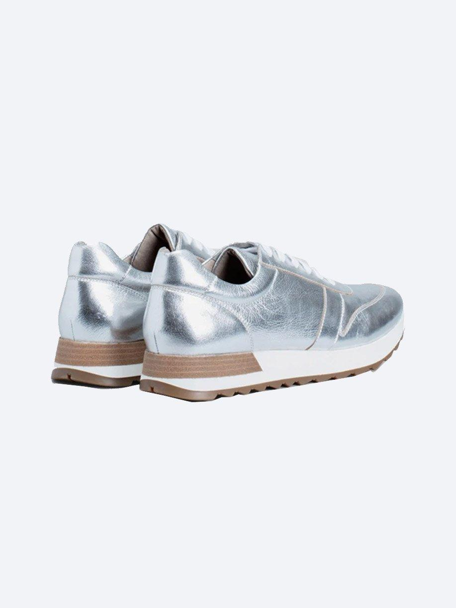 ELK BEATE METALLIC LEATHER TRAINER