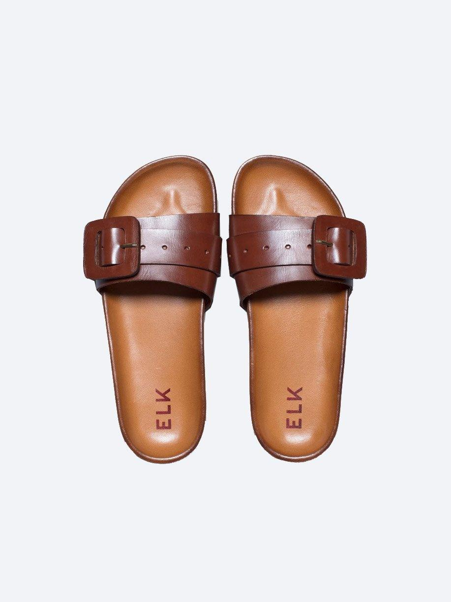 ELK RUNA LEATHER SLIDE