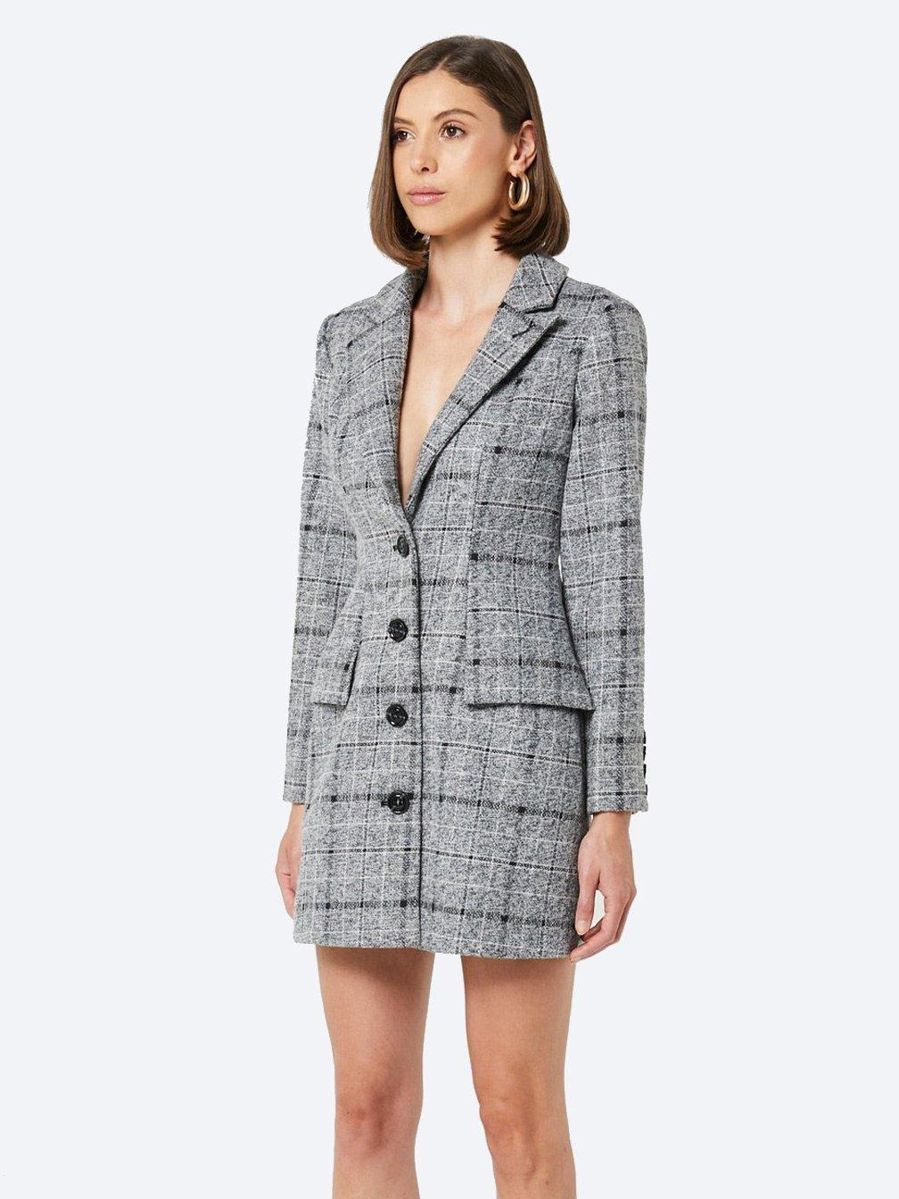 Yeltuor - ELLIATT - Dresses - ELLIATT PRATO CHECK BLAZER DRESS -  -