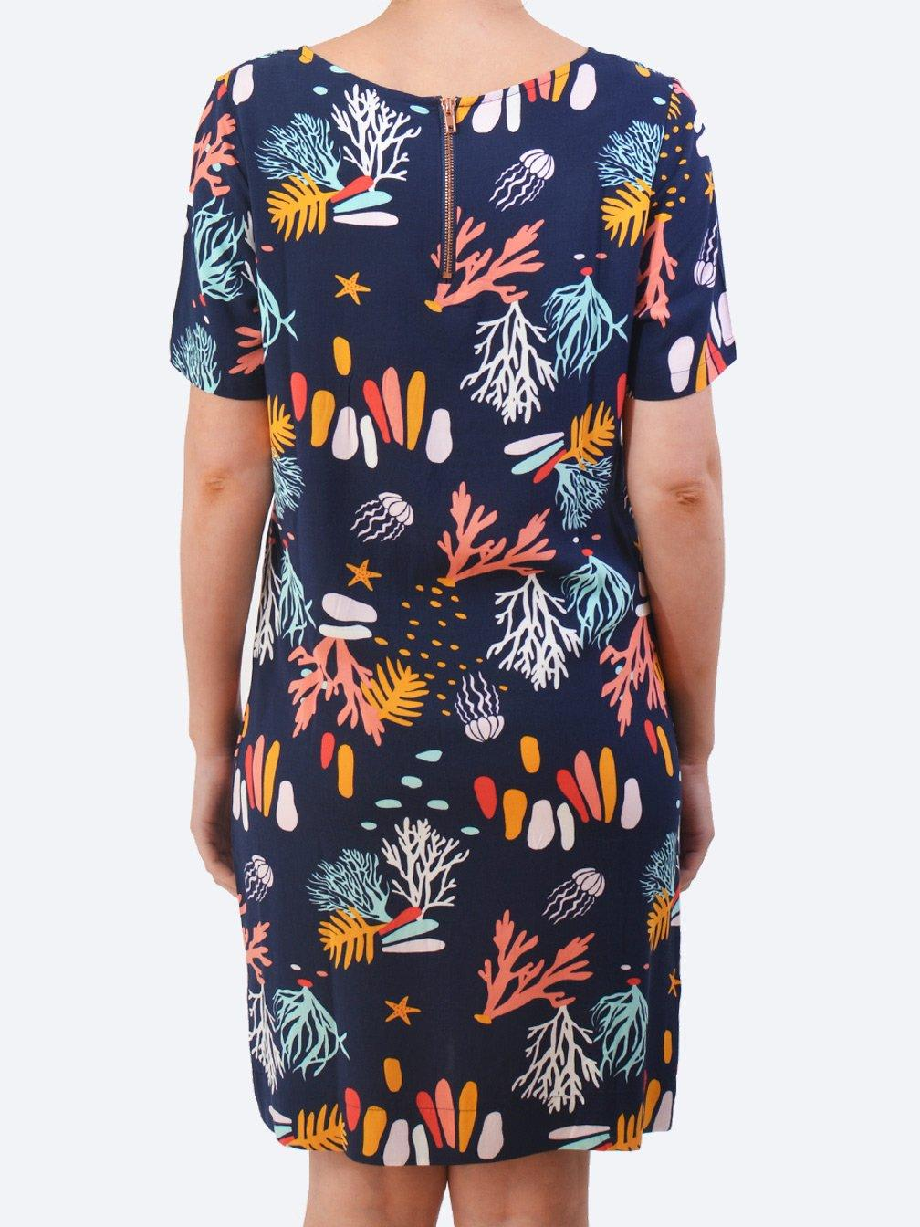 ELM CORAL REEF SHIFT DRESS
