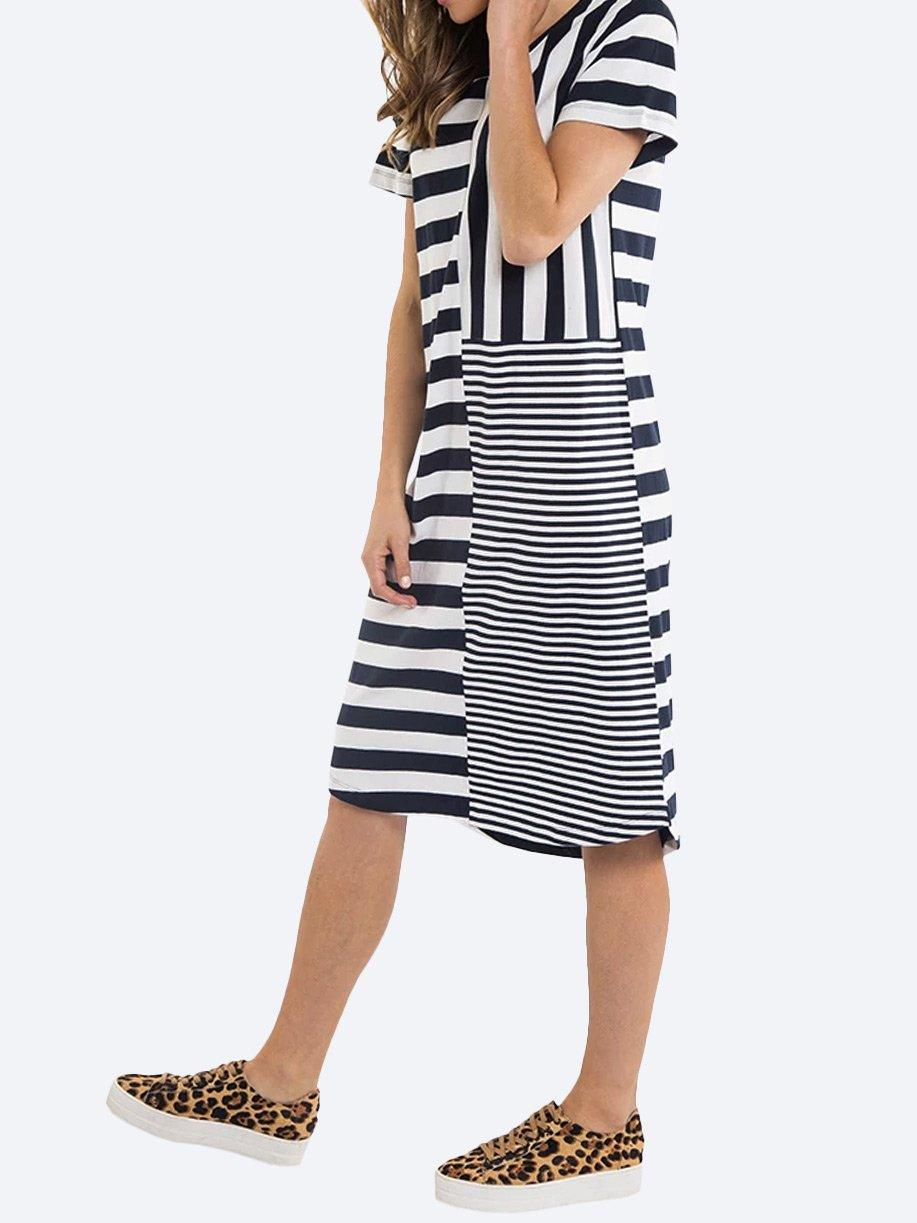 ELM BACK TO BACK STRIPE DRESS