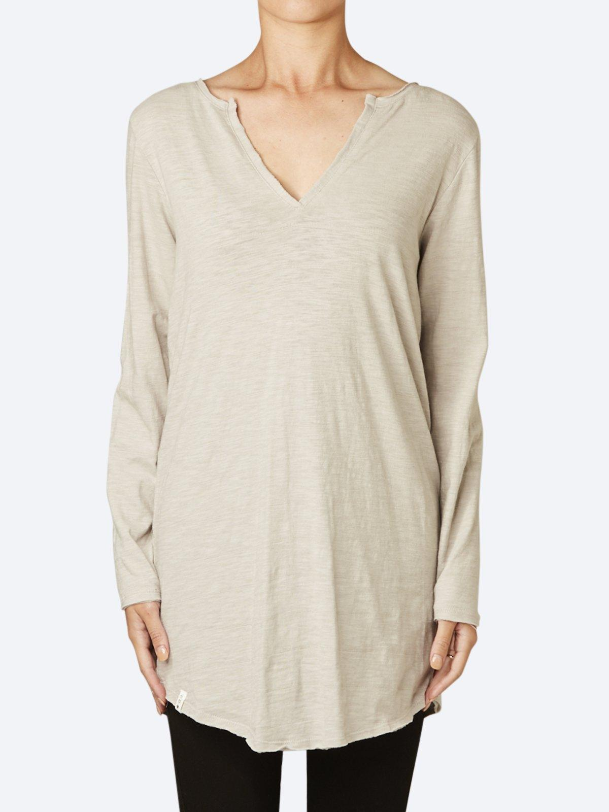 ELM COLES BAY LONG SLEEVE HENLEY TEE
