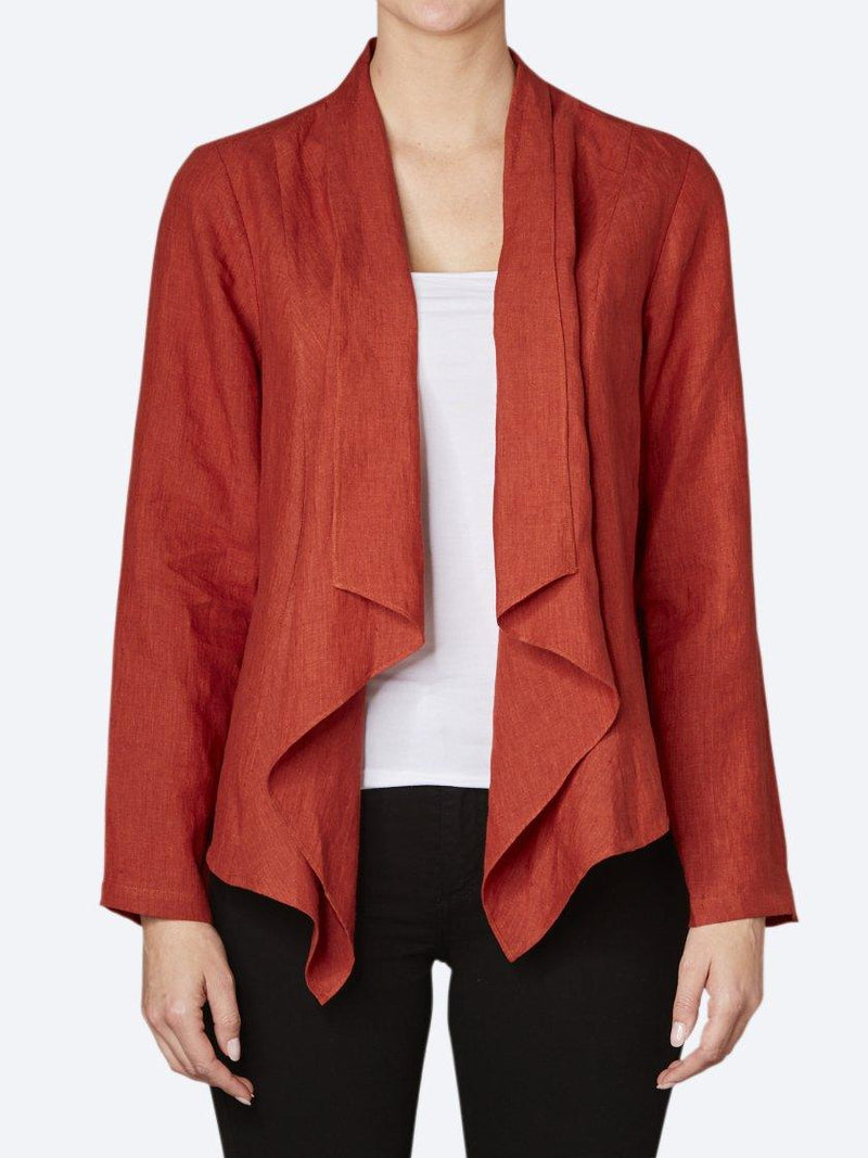JUMP WATERFALL LINEN JACKET