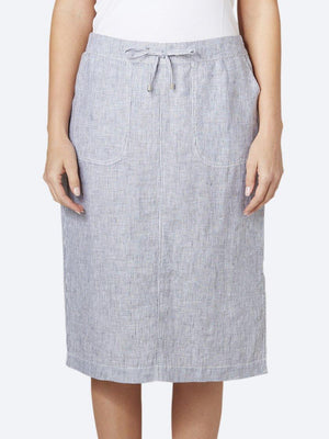JUMP STRIPE LINEN SKIRT