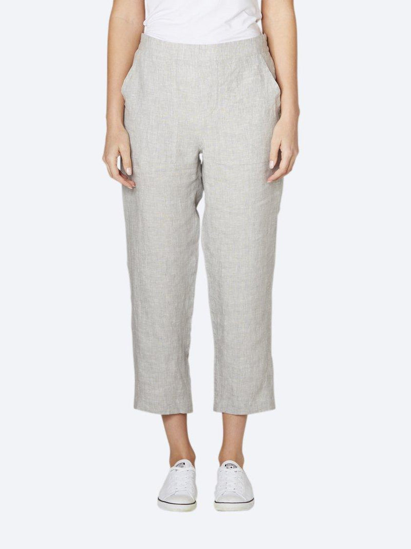 JUMP 7/8TH FLAT FRONT LINEN PANT