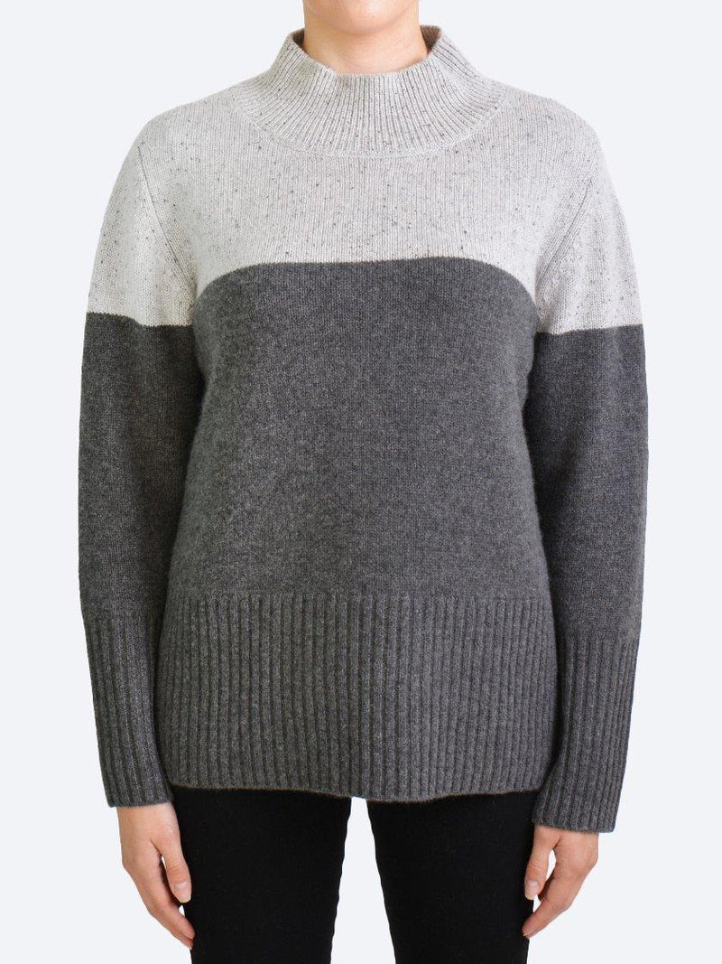 JAMES MELBOURNE 2-TONE CASHMERE KNIT