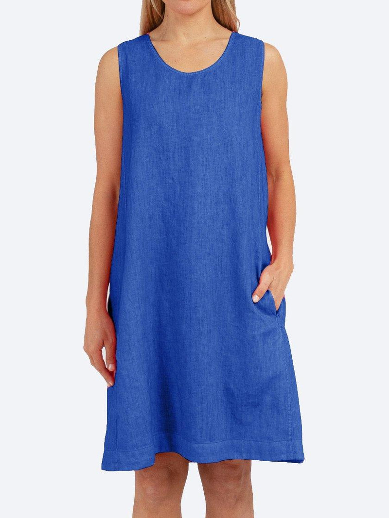 JUMP SLEEVELESS PLEAT BACK DYED DRESS