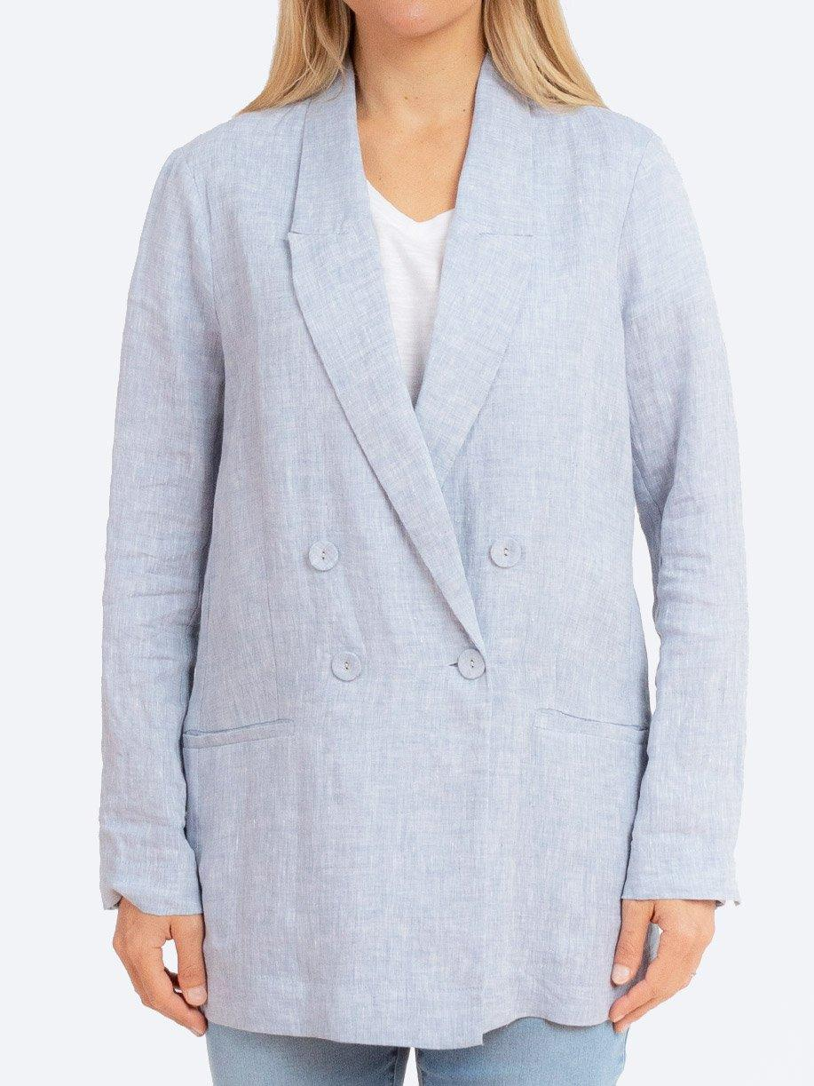 JUMP DOUBLE BREASTED LINEN JACKET