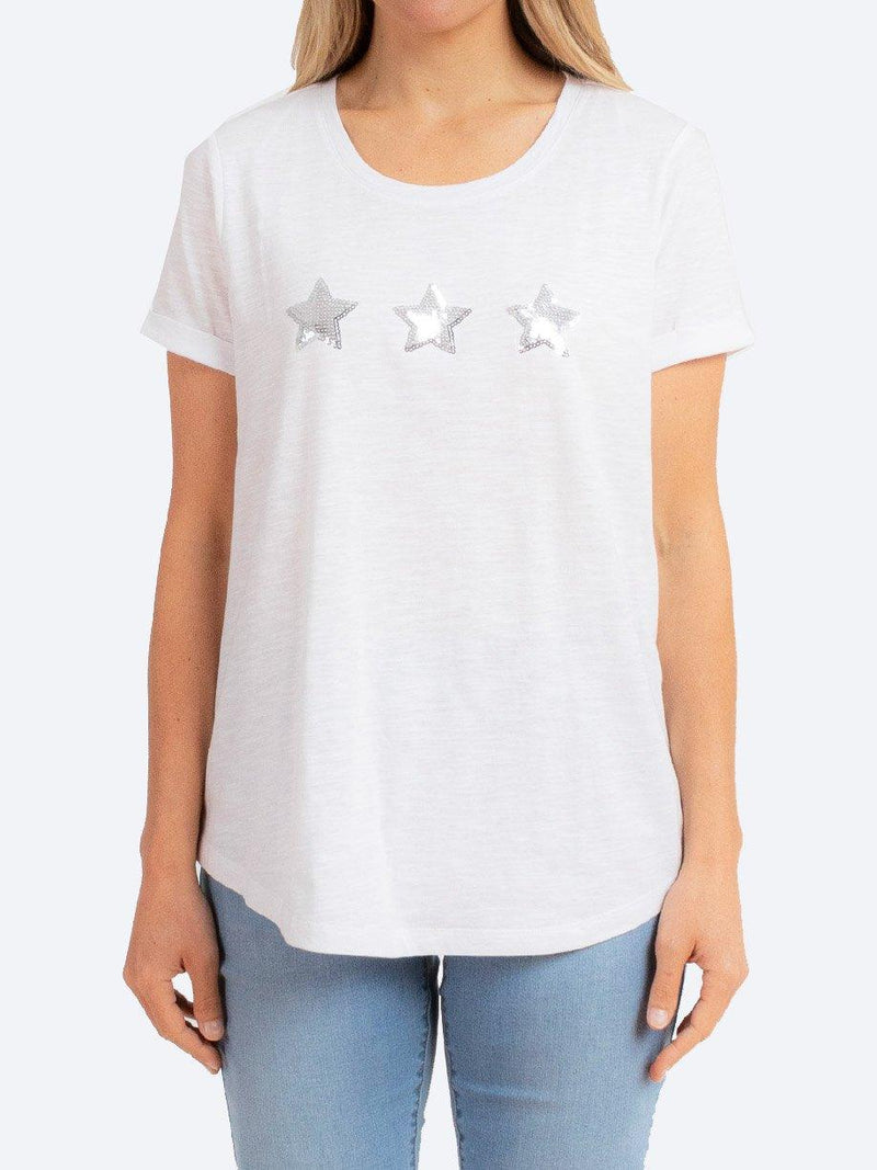 JUMP SEQUIN STAR TEE