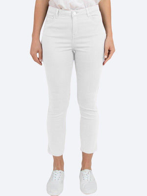 JUMP SIDE SPLIT WHITE JEANS