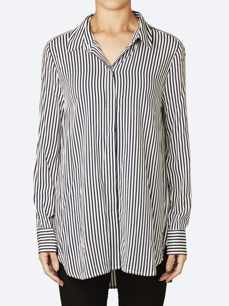 JUMP STRIPED OVERSIZED SHIRT